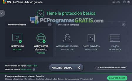 avg antivirus free proteccion basica